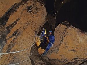 Cueva Fresca - Primer pasamanos