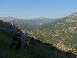 Socueva - Parte final con el Pico Mullir y el Rubrillu al fondo