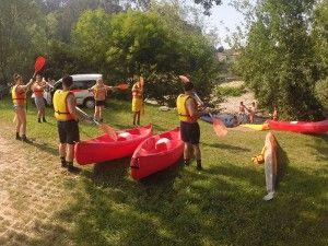 Ampuero - Limpias: Salida en canoas