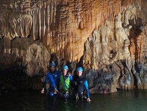 Colada en la Cueva Acuática el molino