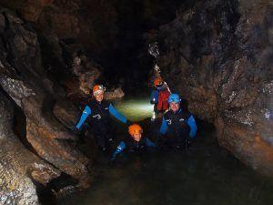 Cañones y encajamientos Cueva Acuática El Molino