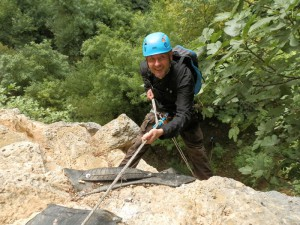Rapel Mur - Salida hacia la Pared del Eco