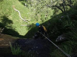 Barranco del Argumedo - Rapel de 12 metros
