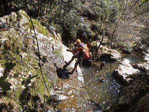 Barranco del Navedo - Rapel de 10 metros